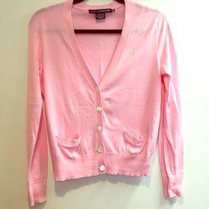 Ralph Lauren sport pink button up cardigan sweater